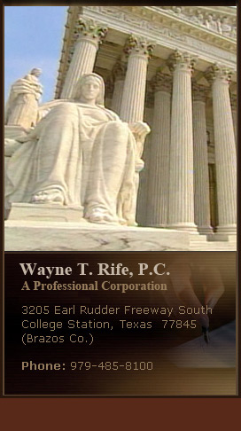Wayne T. Rife- Attorney Appellate Practice