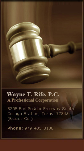 Wayne T. Rife- Areas of Practice